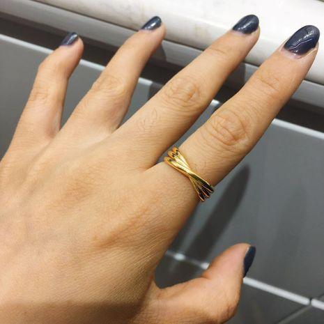 Mode coréenne bague ouverte bague géométrique en gros nihaojewelry NHIM239364's discount tags