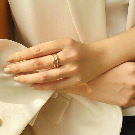 Style coréen bague en or 18 carats tendance ouverture bague réglable bracelet en gros nihaojewelry NHIM239366's discount tags