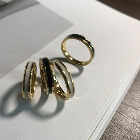 4mm superfine color gold stainless steel  couple ring wholesale nihaojewelry NHIM239384's discount tags