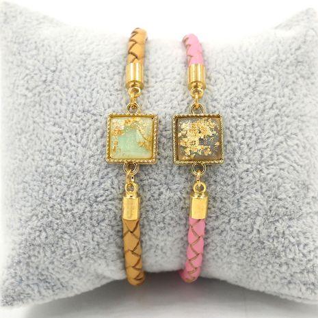 Nouveau bracelet en cuir simple boîte 4mm corde à main tressée accessoires d'étudiant NHHM239389's discount tags