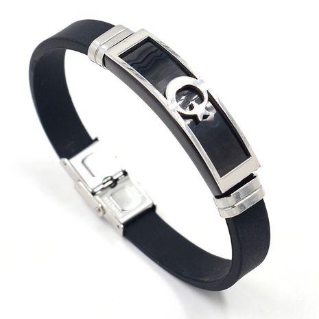 bracelet étoile et lune mode simple bracelet en cuir noir boucle en métal en gros nihaojewelry NHHM239399's discount tags