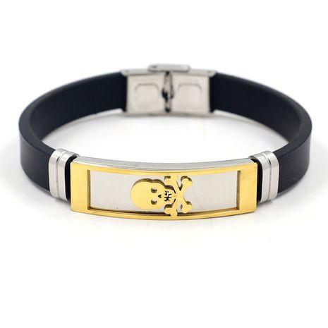 bracelet en acier inoxydable en acier au titane nouveau bracelet en silicone créatif pour hommes en gros nihaojewelry NHHM239406's discount tags