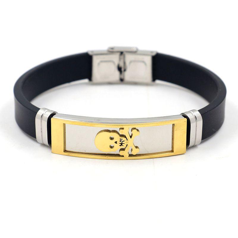bracelet en acier inoxydable en acier au titane nouveau bracelet en silicone cratif pour hommes en gros nihaojewelry NHHM239406