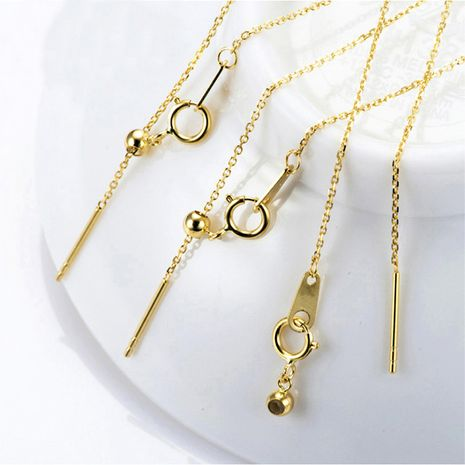 Nouveau bracelet à chaîne plaqué or en acier au titane 316L simple pour les femmes NHTF239426's discount tags