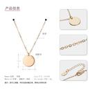 Style coren simple pendentif rond en cuivre accessoires de mode pour femmes chane de clavicule NHTF239438