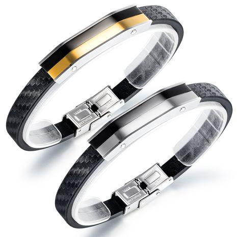 nouveau bracelet en cuir en acier titane bracelet tendance de la personnalité créative des hommes en gros nihaojewelry NHOP239464's discount tags