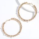 exaggerated fashion allmatch alloy diamondstudded pearl earring retro earrings wholesale nihaojewelry NHJE239472