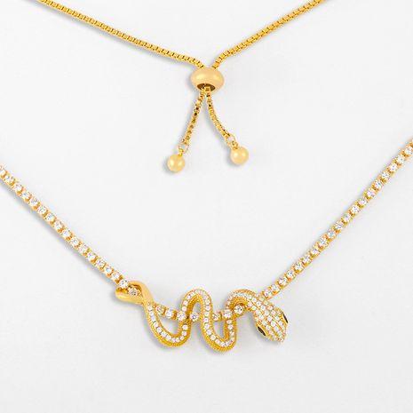 collier en forme de serpent de mode collier pendentif diamant en gros nihaojewelry NHAS239479's discount tags
