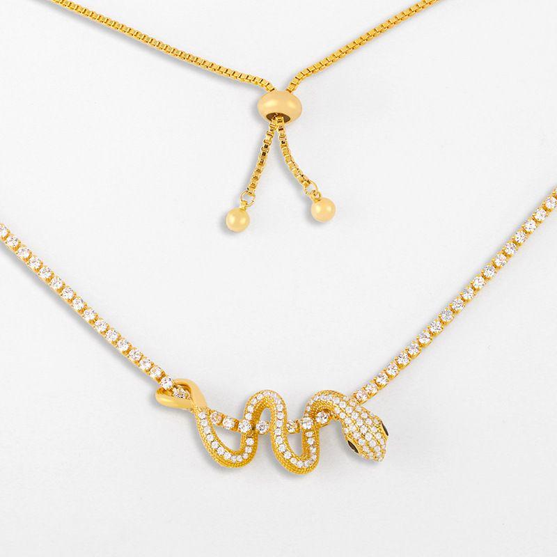 collier en forme de serpent de mode collier pendentif diamant en gros nihaojewelry NHAS239479