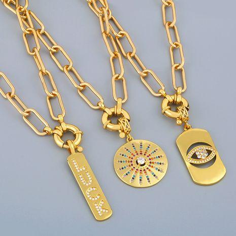 rétro exagéré chaîne épaisse collier chaîne hip hop collier chaîne de la clavicule en gros nihaojewelry NHAS239480's discount tags
