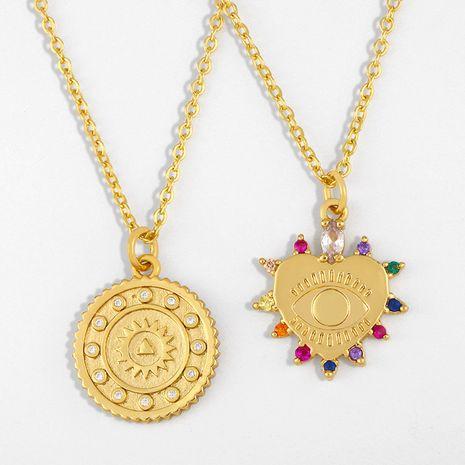 Collier de chaîne de chandail sauvage simple de pendentif de soleil de mode pour les femmes Nihaojewelry NHAS239481's discount tags