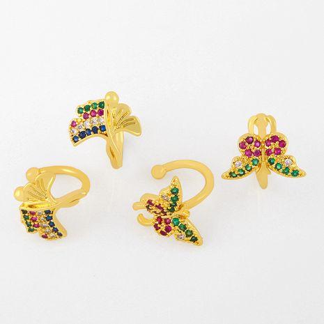 Butterfly  cold wind earrings without pierced ear bone clip wholesale nihaojewelry NHAS239484's discount tags