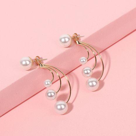 Fashion copper multi-layer pearl Bohemian style earrings  NHRN239491's discount tags