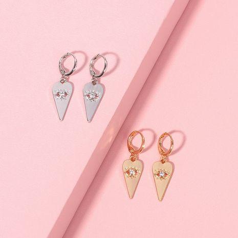 popular geometric eye pendant earrings exaggerated bohemian zircon earrings wholesale nihaojewelry NHRN239492's discount tags