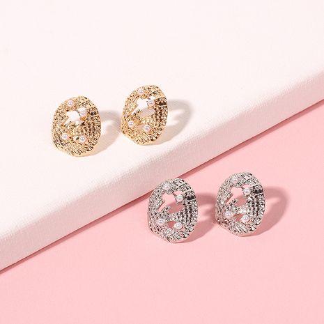 Korea Fashion Hollow Alloy Shell Bohemian Pearl Earrings for women nihaojewelry NHRN239495's discount tags