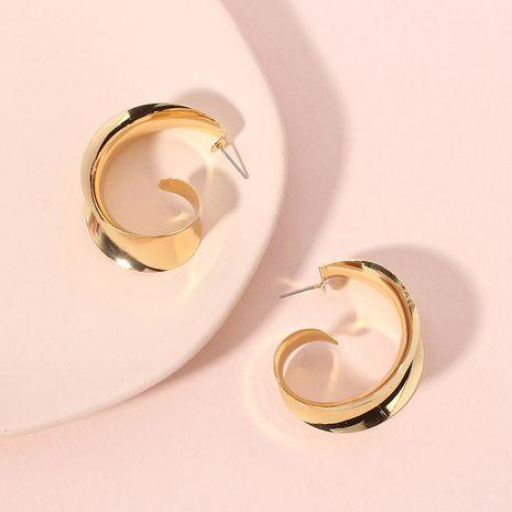 vente chaude nouvelle mode boucles d'oreilles brillantes simples boucles d'oreilles géométriques populaires en métal en gros nihaojewelry NHRN239497's discount tags