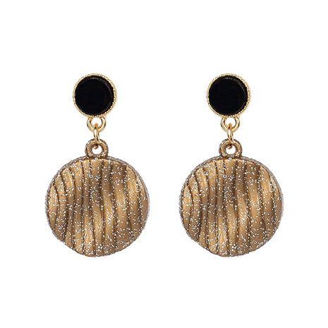 original handmade design chocolate earrings ladies retro round biscuit earrings wholesale nihaojewelry NHRN239498's discount tags