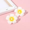 New  Bohemian pearl frangipani earrings for women wholesale nihaojewelry NHRN239501