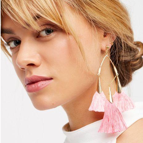 Hand-made tassel Bohemian style long earrings  NHRN239502's discount tags