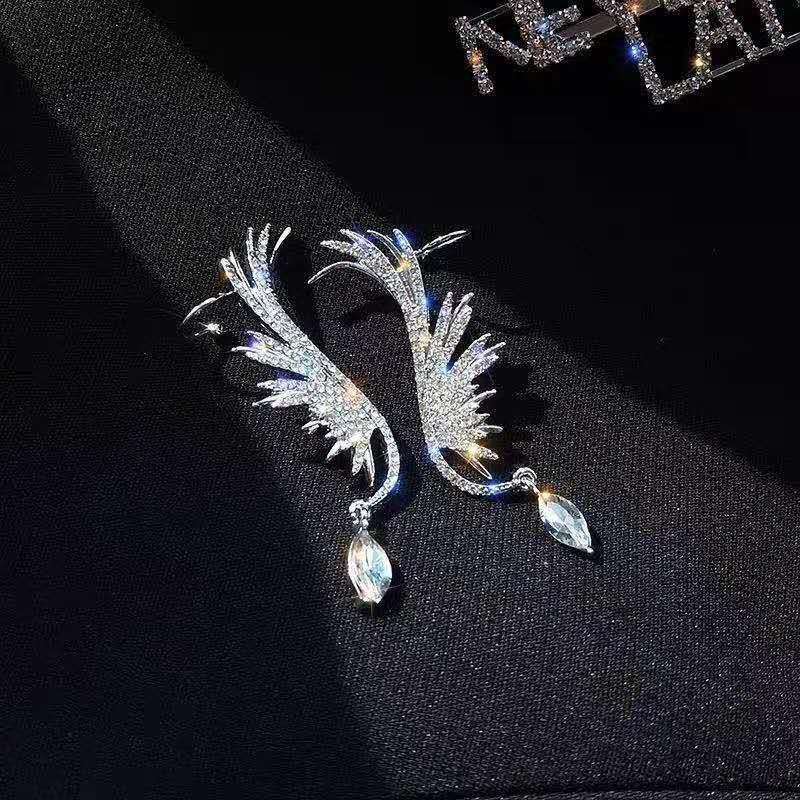 925 Silver Needle Diamond Tassel fashion New Earring wholesale nihaojewelry NHGO239503