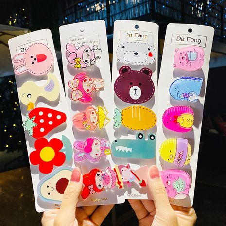 New acrylic hairpin cartoon cute duckbill clip side clip hairpin wholesale nihaojewelry NHNA239522's discount tags