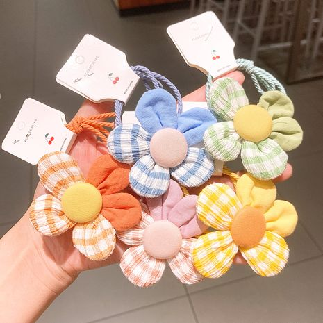 Korean  small fresh stitching flower  cute rubber band head rope NHSA239532's discount tags