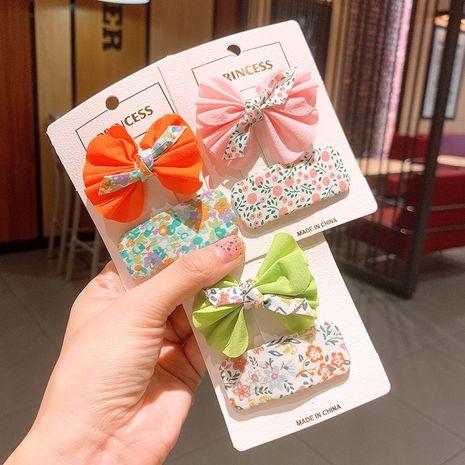 Korean  new floral bow color children's princess BB clip bangs clip  set NHSA239530's discount tags