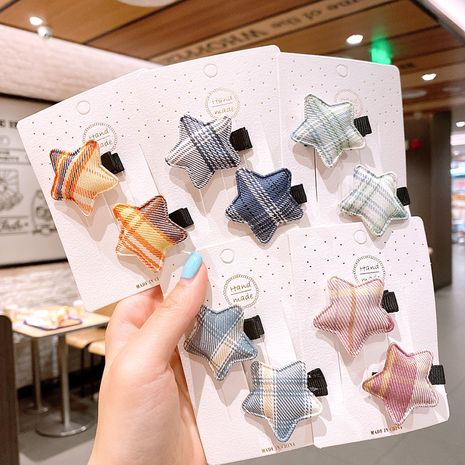 star hairpin girl small hairpin lattice simple and sweet headdress side bangs clip wholesale nihaojewelry NHSA239534's discount tags