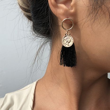 Hot-selling women's long alloy tassel  trendy earrings wholesale nihaojewelry NHMD239540's discount tags