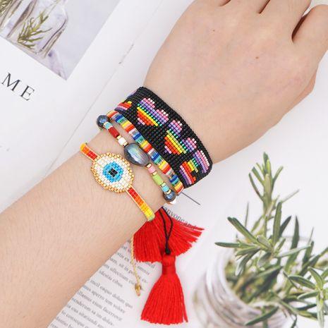 Rice bead eye-shaped fashion handmade color tila beads hot sale bracelet for women nihaojewelry NHGW239575's discount tags