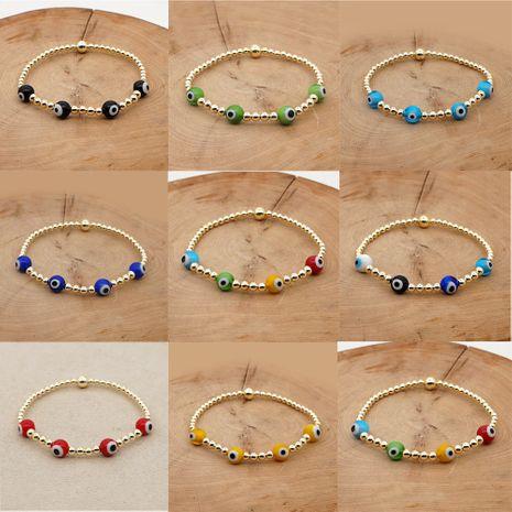 Pulsera de ojo de color chapado en oro con preservación de color importada simple con cuentas pulsera de ojo de mujer nihaojewelry NHGW239578's discount tags
