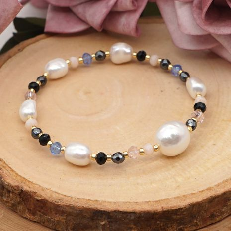 Winter Baroque natural pearl crystal niche retro bracelet for women nihaojewelry NHGW239580's discount tags