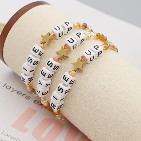 Korea fashion crystal letter niche star jewelry bracelet for women nihaojewelry NHGW239586's discount tags