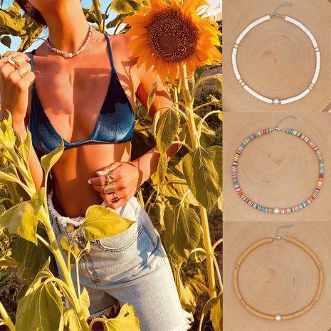 collier en argile colorée femme style plage bohème bijoux en perles naturelles en gros nihaojewelry NHGW239591's discount tags