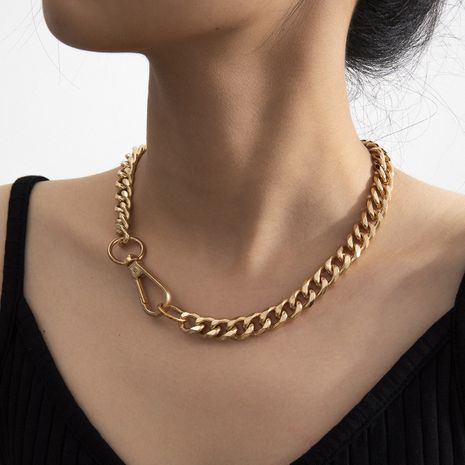 fashion hot sale creative minimalist style aluminum chain single-layer necklace wholesale nihaojewelry NHXR239597's discount tags