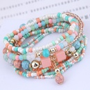 Trend Bohemian mix allmatch delicate rice bead multilayer bracelet wholesale NHSC239682