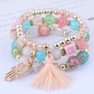 fashion trend simple and versatile palm tassel pendant multi-layer bracelet wholesale nihaojewelry NHSC240018's discount tags