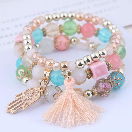 tendance de la mode simple et polyvalent pendentif pompon de paume bracelet multicouche en gros nihaojewelry NHSC240018's discount tags