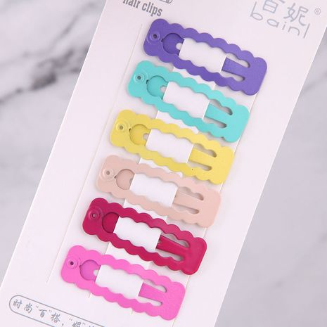 Couleur bonbon enfants mignons simples pince à cheveux côté ensemble en gros nihaojewelry NHSC240015's discount tags