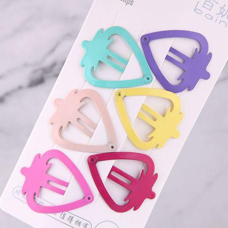 Bonbons couleur mignon enfants fraise côté clip épingle à cheveux ensemble en gros nihaojewelry NHSC240014's discount tags