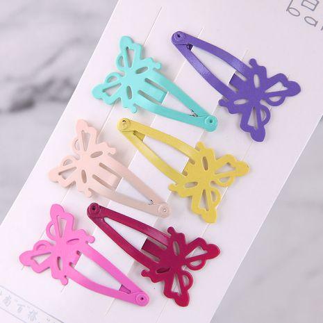 Bonbons couleur mignon enfants papillon ensemble d'épingle à cheveux en gros nihaojewelry NHSC240013's discount tags