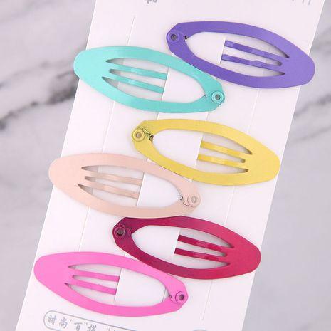 Couleur bonbon enfants mignons forme ovale pince à cheveux côté ensemble en gros nihaojewelry NHSC239999's discount tags