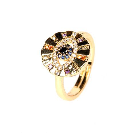 nouvelle mode oeil du diable à la mode zircon joint ouvert bague en gros nihaojewelry NHPY239617's discount tags