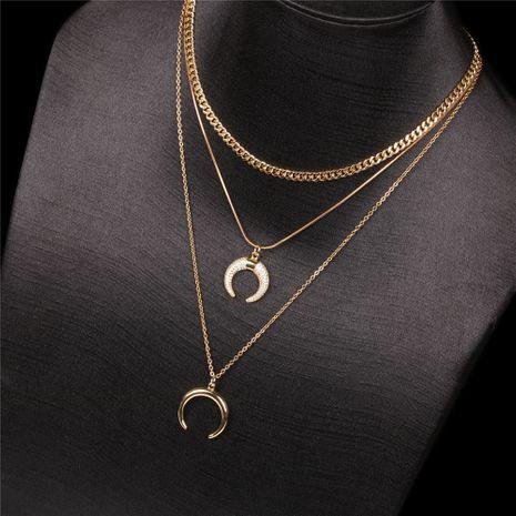 Élément de mode décoration style ethnique pendentif en croissant multicouche ensemble collier pour femmes NHPY239620's discount tags