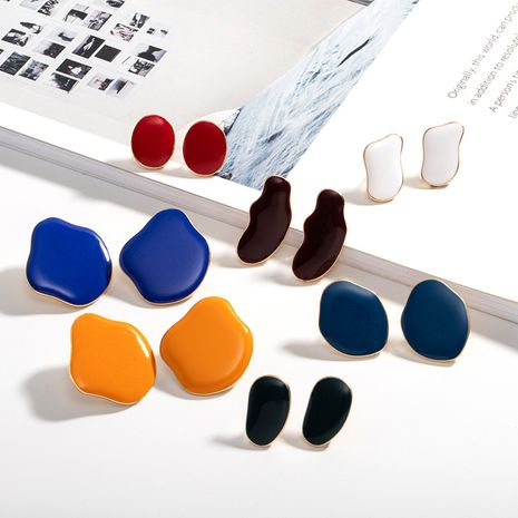 Korean new multicolor resin retro simple niche exquisite trend earrings NHAI239640's discount tags