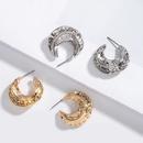 Korea metal hammered simple cool style earrings wholesale nihaojewelry NHAI239644