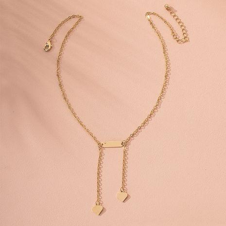 S925 plata simple brillante tendencia de amor forma geométrica cadena de clavícula collar de mujer colgante al por mayor NHAI239652's discount tags