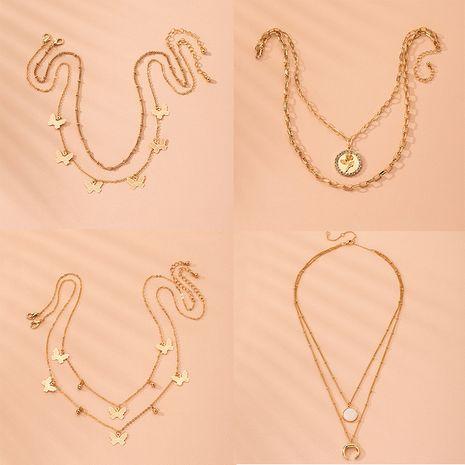 Aleación de nácar estrella de diamantes nuevo estilo marino nicho nicho collar de cadena de clavícula de las mujeres al por mayor NHAI239654's discount tags