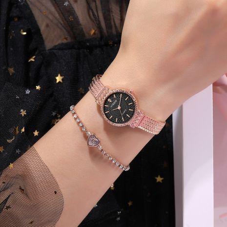 cadena de oro rosa pequeño dial correa impermeable reloj de cuarzo al por mayor nihaojewelry NHSS239665's discount tags