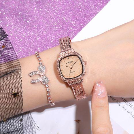 cadena de oro rosa pequeño dial retro pequeño reloj de oro al por mayor nihaojewelry NHSS239666's discount tags